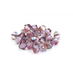 BICONE SWAROVSKI (5328) 3MM CRYSTAL LILAC SHADOW